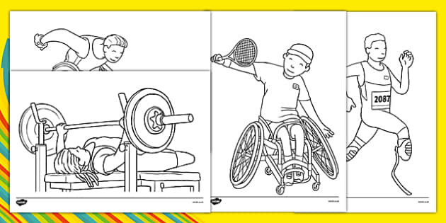 Paralympic Games Colouring Pages