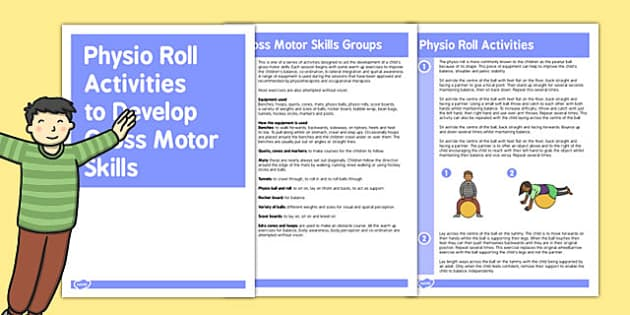 Physio Roll Gross Motor Skills Activities - gross motor, activity