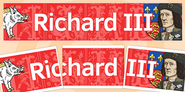 Richard III Display Banner - richard III, display banner, banner