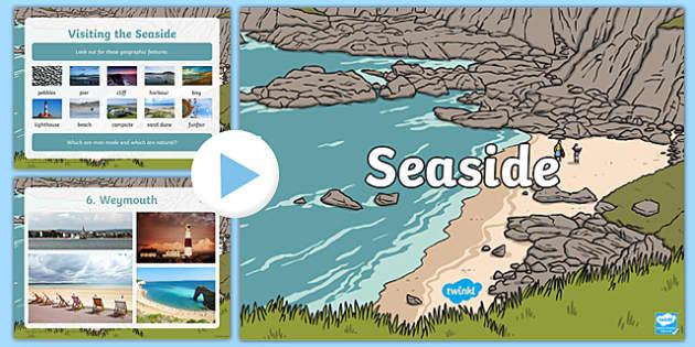 British Seasides PowerPoint - seaside, british seasides, beaches, beach, seaside photos, beach photos, seasides in the UK, beach photos, at the seaside