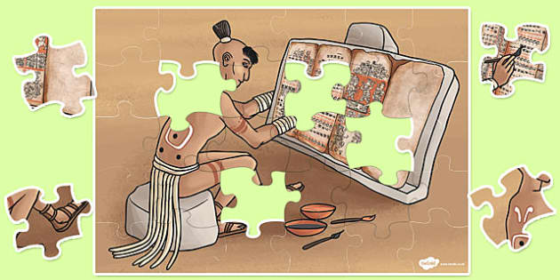 Large Maya Life Jigsaw Puzzle - jigsaw, puzzle, mayan, life