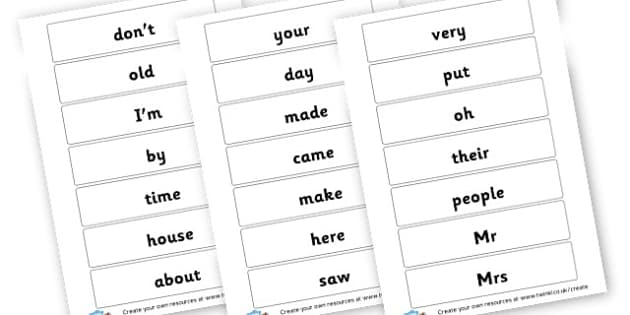 high frequency 5 - High Frequency Words Visual Aids Primary Resources, letters, frquency