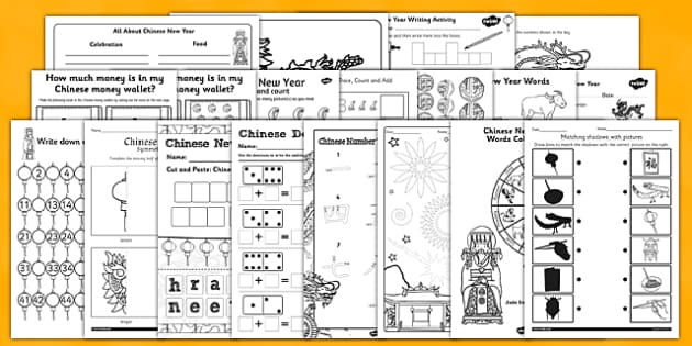 Chinese New Year Activity Photocopy Pack - chinese new year, activity, photocopy, pack