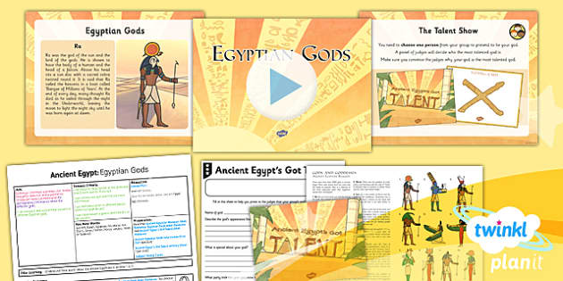 PlanIt - History UKS2 - Ancient Egypt Lesson 6: Egyptian Gods Lesson Pack