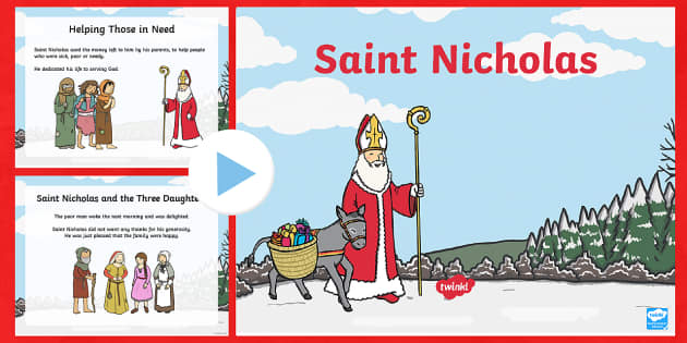KS1 Saint Nicholas Facts PowerPoint - Christmas, Nativity, Jesus, xmas, Xmas, Father Christmas, Santa, saint, Saint Nicholas, patron, sail, saint nicholas day, st nicholas day