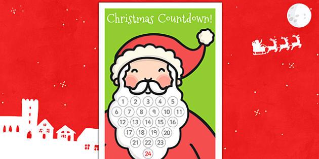 Santas Beard Christmas Countdown - santa, christmas, countdown