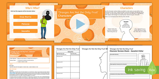 Oranges Are Not The Only Fruit Lesson Pack: Characters
