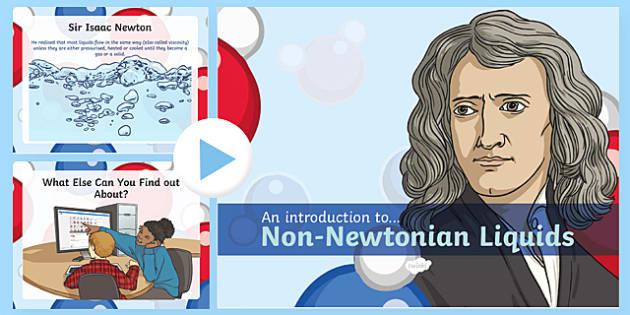 Non-Newtonian Liquids Information PowerPoint