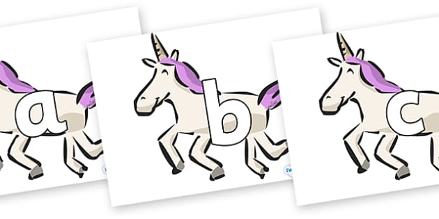Phoneme Set on Unicorns - Phoneme set, phonemes, phoneme, Letters and Sounds, DfES, display, Phase 1, Phase 2, Phase 3, Phase 5, Foundation, Literacy