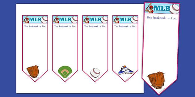 Baseball Themed Bookmarks - usa, america, baseball, mlb, major league baseball, bookmarks