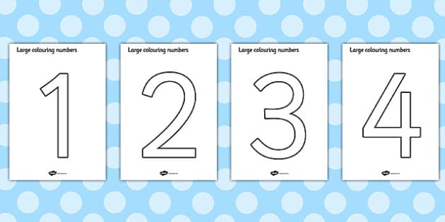 Colouring Numbers 0 9 Colouring Numbers Colouring Sheet