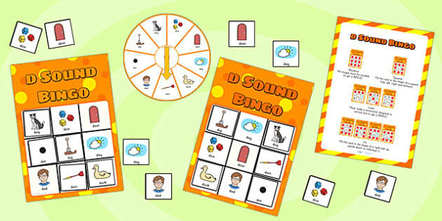 d Sound Bingo Game with Spinner - sounds, sound games, bingo