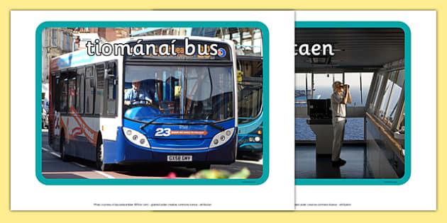 Irish Occupations Transport and Travel Display Photos Gaeilge - gaeilge, display, photos, occupations, transport and travel, Gaeilge, Irish