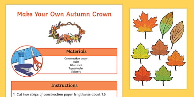 Autumn Crown Craft Activity