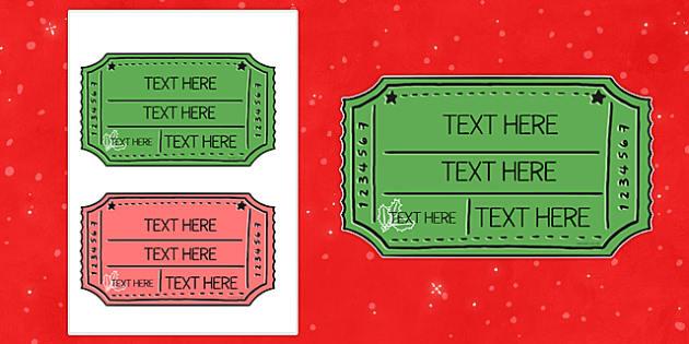 Christmas Fair Editable Ticket - christmas fair, editable, ticket, edit