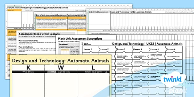PlanIt - Design and Technology UKS2 - Automata Animals Unit Assessment Pack - planit, design and technology, uks2, automata animals, assessment, pack
