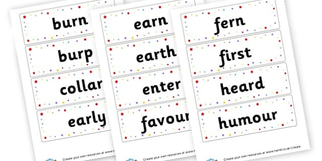 er Extended Code Word Cards - Words & Vocab Primary Resources, literacy, keywords, cvc, phonemes