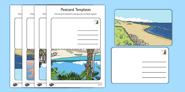 Post Office Post Card Templates - Postcard ,Post Office, Aistear, Template  Writing