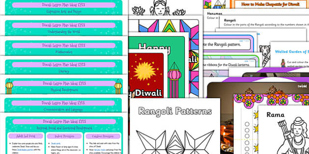 EYFS Diwali Teaching Resources Pack - diwali, resources, pack