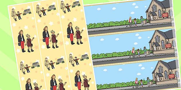 Walk to School Week Display Borders - walk to school week, border