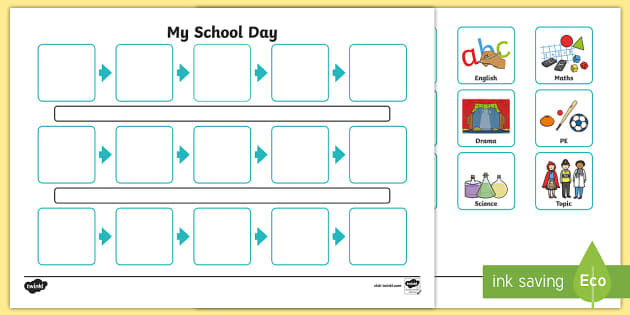 Individuals Visual Timetable Template - individual, visual, time, table, timetable, template, timetable template, multipilcation, numeracy, maths