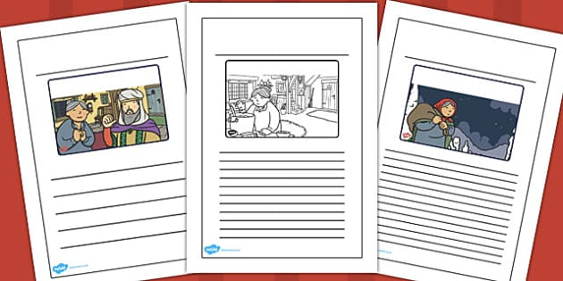 Babushka Story Writing Frames - babushka, story, writing frames