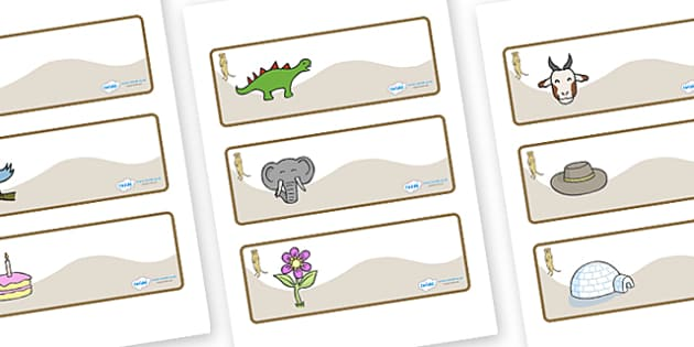 Meerkat Themed Editable Drawer-Peg-Name Labels - Themed Classroom Label Templates, Resource Labels, Name Labels, Editable Labels, Drawer Labels, Coat Peg Labels, Peg Label, KS1 Labels, Foundation Labels, Foundation Stage Labels, Teaching Labels