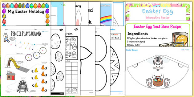 Easter KS1 Home Learning Pack - easter, ks1, home learning, pack, home, learning, home education