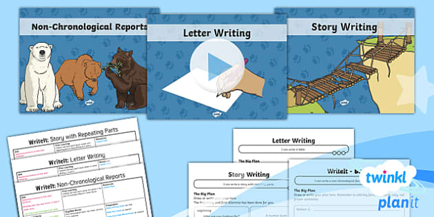 PlanIt Y1 Explorers: To Support Teaching on We're Going on a Bear Hunt WriteIt Pack - Explorers, Bear Hunt, WriteIt, writing assessment, story writing, story with repeating parts, , lett
