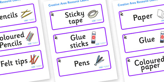 Florence Nightingale Themed Editable Creative Area Resource Labels - Themed creative resource labels, Label template, Resource Label, Name Labels, Editable Labels, Drawer Labels, KS1 Labels, Foundation Labels, Foundation Stage Labels
