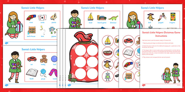 Santa's Little Helpers Christmas Game - santas little helpers, christmas, game, activity