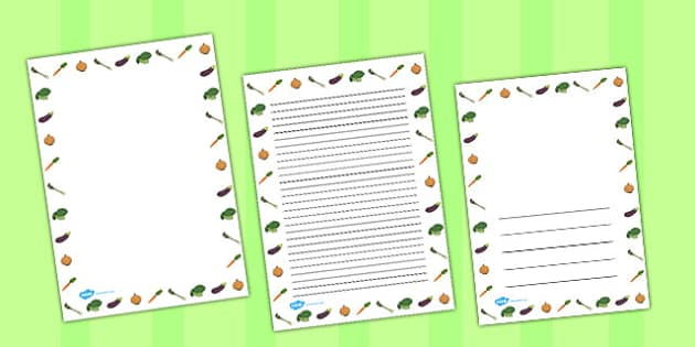 Grow your Own Vegetables Portrait Page Borders - australia, grow