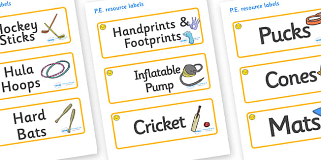 Welcome to our class- Smiley Face Themed Editable PE Resource Labels - Themed PE label, PE equipment, PE, physical education, PE cupboard, PE, physical development, quoits, cones, bats, balls, Resource Label, Editable Labels, KS1 Labels, Foundation L