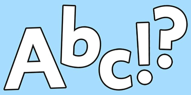 Blank Display Lettering - display letters, letters, class display