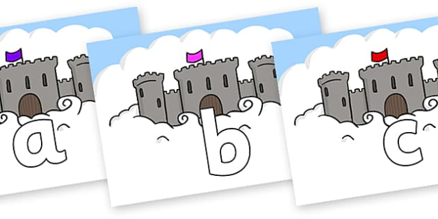 Phoneme Set on Castles - Phoneme set, phonemes, phoneme, Letters and Sounds, DfES, display, Phase 1, Phase 2, Phase 3, Phase 5, Foundation, Literacy