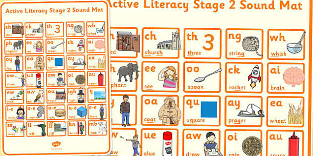 Active Literacy Stage 2 Sound Mat - active, literacy, stage 2