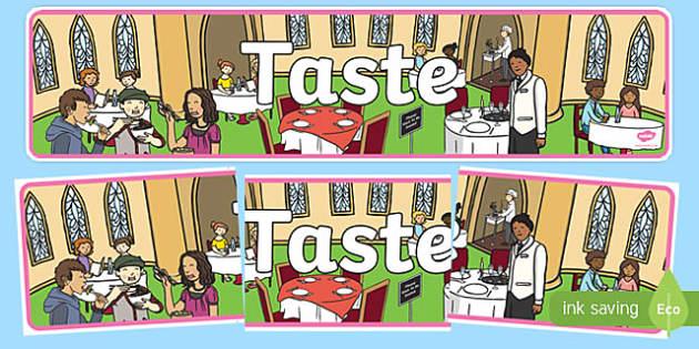 Taste Display Banner