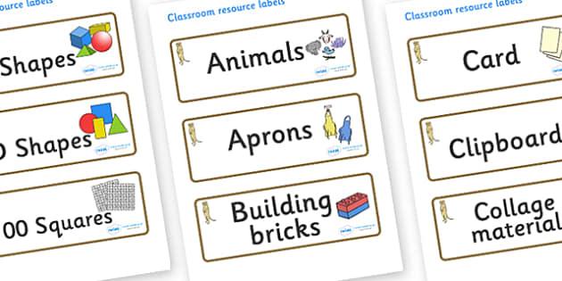 Meerkat Themed Editable Classroom Resource Labels - Themed Label template, Resource Label, Name Labels, Editable Labels, Drawer Labels, KS1 Labels, Foundation Labels, Foundation Stage Labels, Teaching Labels, Resource Labels, Tray Labels, Printable l