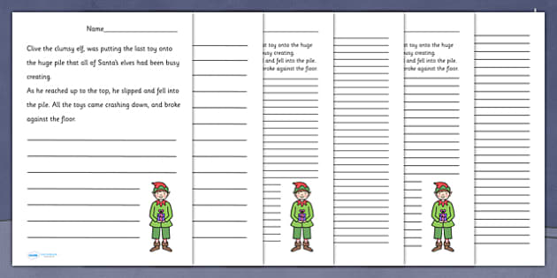 Santa's Workshop Story Starter Worksheets - christmas, literacy