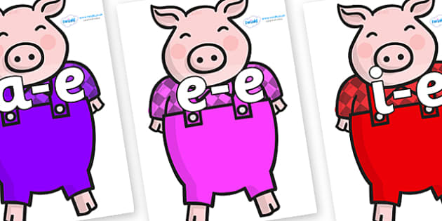 Modifying E Letters on Pigs - Modifying E, letters, modify, Phase 5, Phase five, alternative spellings for phonemes, DfES letters and Sounds