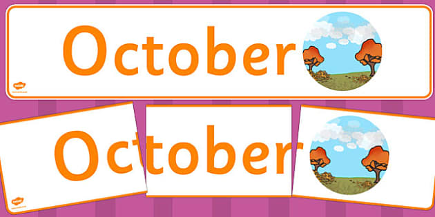 October Display Banner - october, display banner, display, banner, months, year
