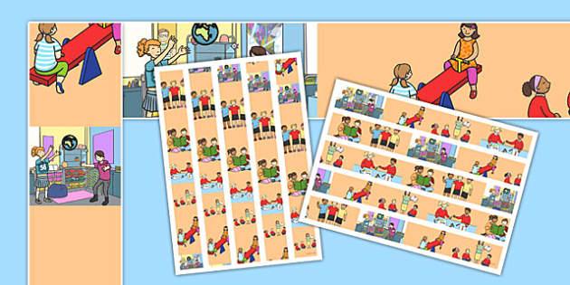 Classroom Themed A3 Display Borders - classroom, themed, a3, display, borders