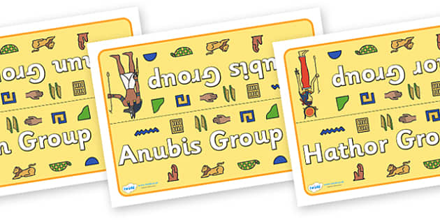 Class Table Group Signs (Ancient Egyptians) -  Ancient Egyptian, history, group signs, group labels, group table signs, table sign, teaching groups, class group, class groups, table label, Egyptians, Egypt, pyramids, Pharaoh, hierogliphics, hieroglyp