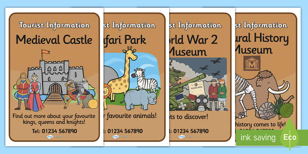 Tourist Information Role Play Display Posters-tourist information, role play, display posters, role play posters, posters for display, tourist