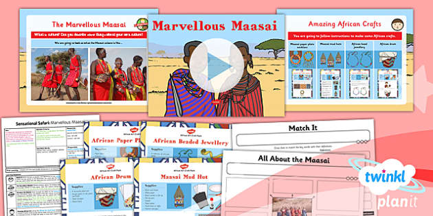 PlanIt - Geography Year 2 - Sensational Safari Lesson 5: Marvellous Maasai Lesson Pack - planit, geography, safari, year 2