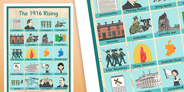 1916 Rising Vocabulary Mat - Easter 1916 Rising, irish history, vocabulary, word mat