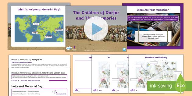 Holocaust Memorial Day Learning From Memories Lesson Pack One - Holocaust Memorial Day, genocide, darfur, rwanda, cambodia, sudan, bosnia