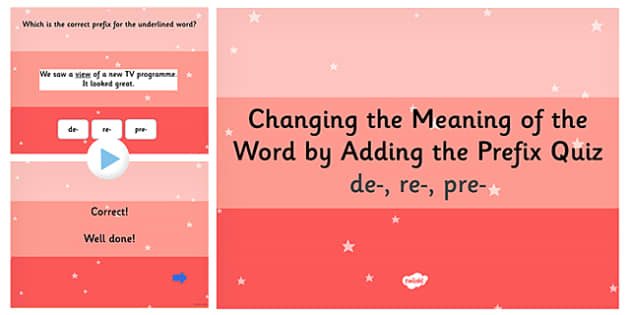 Changing the Meaning of a Word by Adding Prefix SPaG PowerPoint