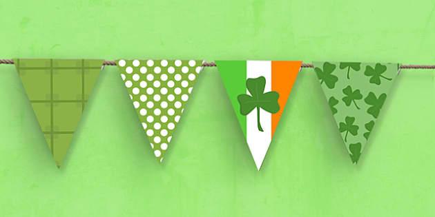 St Patricks Day Themed Bunting - st patricks day, bunting