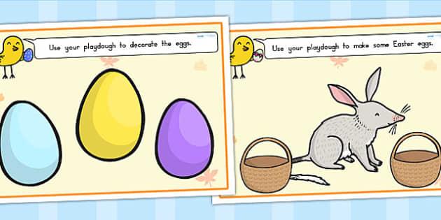 Easter Playdough Mats - easter, religion, fine motor skills, RE